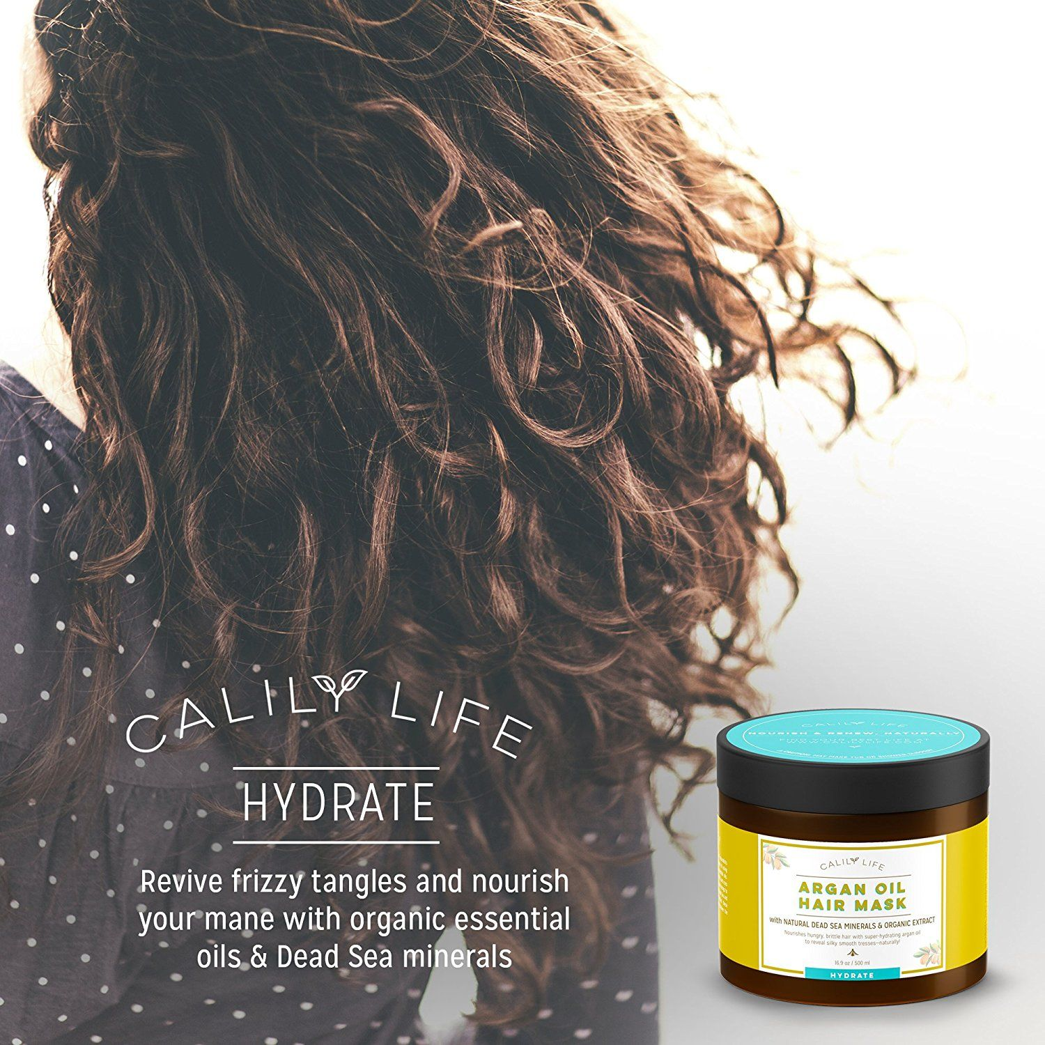 Calily life organic moroccan argan oil hair mask with dead