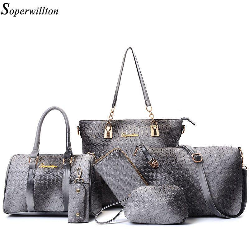 7d398288a5 Composite Women s Leather Handbags Set Sling Bag   Purses Casual Tote 6Pcs  Sets  CompositeWomens  TotesShoppers