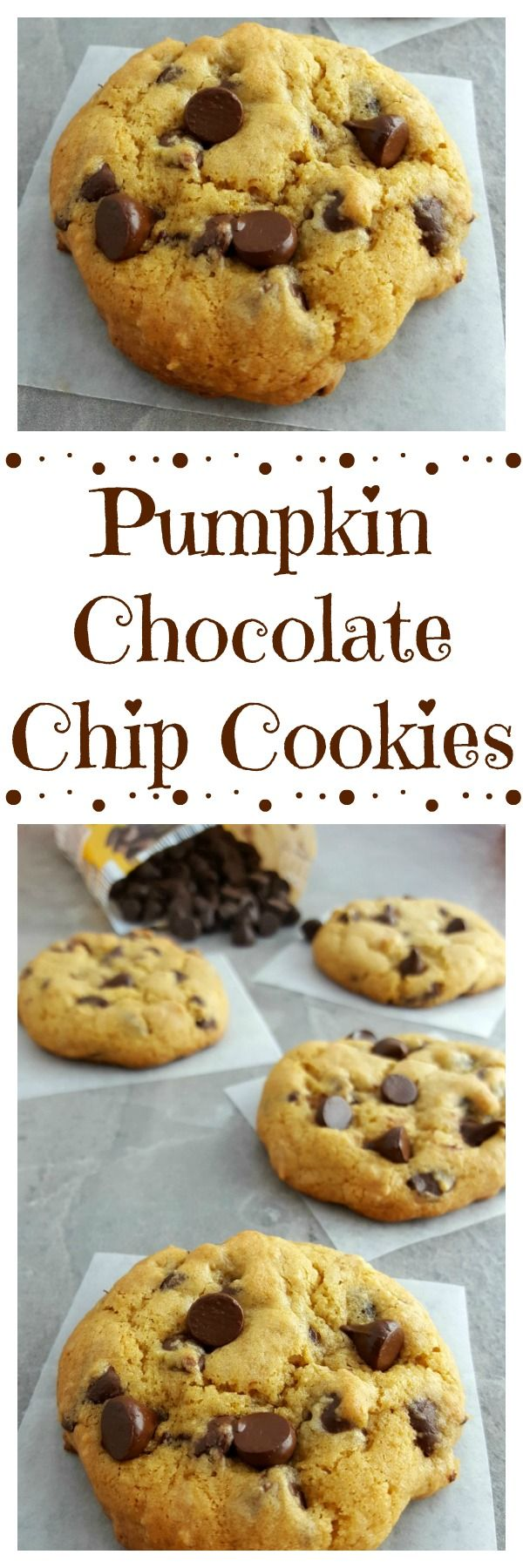 Pumpkin Chocolate Chip Cookies These delicious easy to make chewy Pumpkin Chocolate Chip Cookies can be made with Gluten Free Ingredients Theyre sure to be the hit of you...