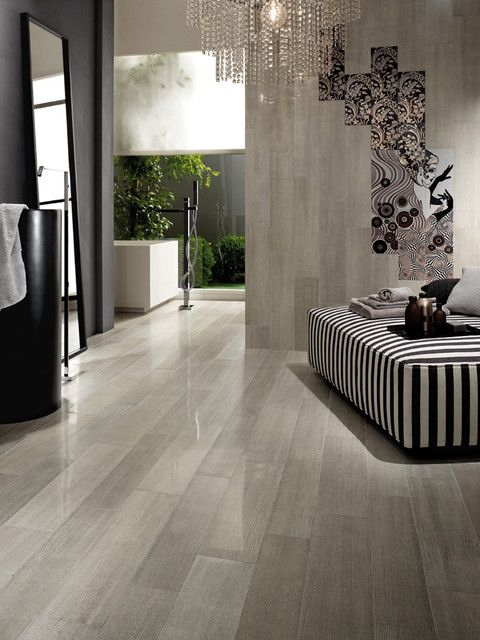 Rectified Semi Polished Porcelain Modern Floor Tiles Wall And Bathroom