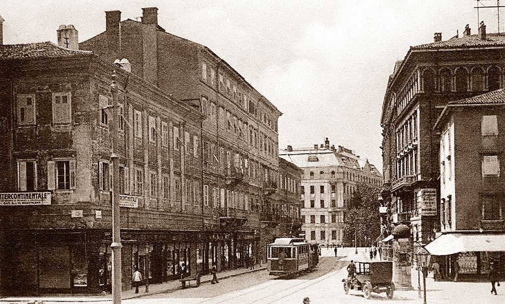 Rijeka - 1910-tih - Via Adamich - Piazza Dante