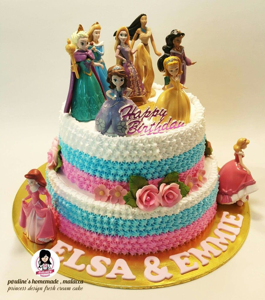 Princess Design Fresh Cream Cake Fresh Cream Pinterest