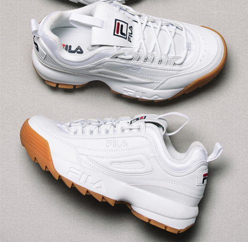 FILA 2018 DISRUPTOR II WHITE BROWN FS1HTA1072X US WOMENS SZ 5-11