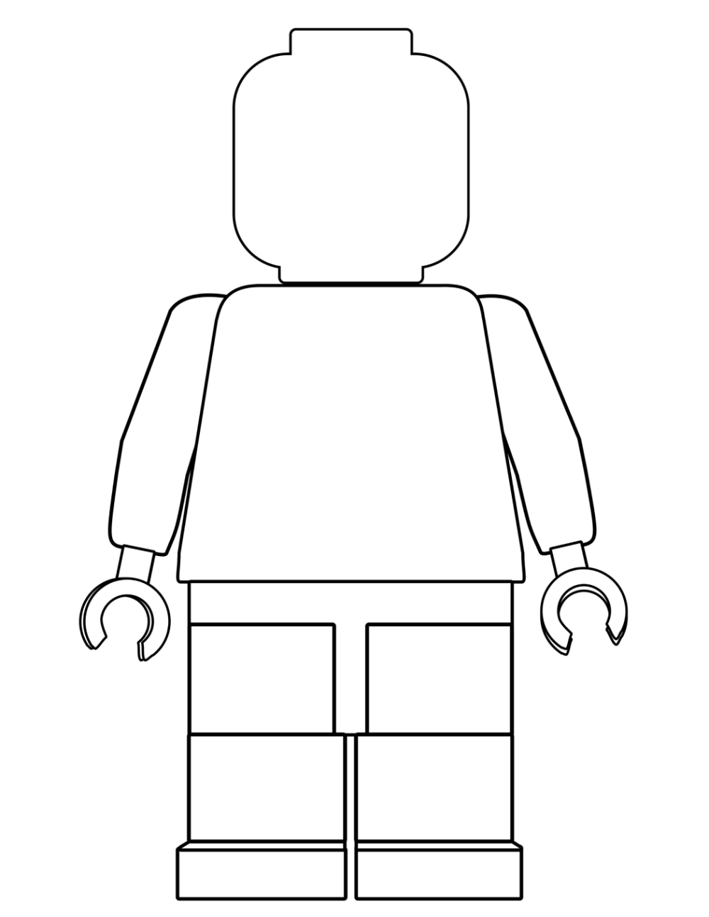 Lego Man Coloring Page Blank Lego Coloring Pages Lego Coloring Lego Coloring Sheet