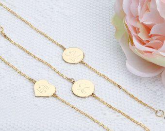Gold  Silver  Pink Gold As Seen on Buzzfeed Minimalist Jewelry Slim Curve Bar Bracelet Bridesmaid Bridal Girlfriend Gift LJ bj