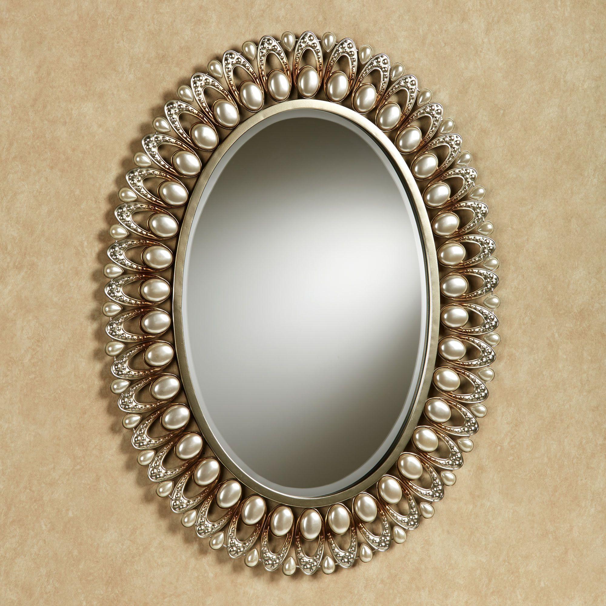 Julietta Pearl Oval Wall Mirror