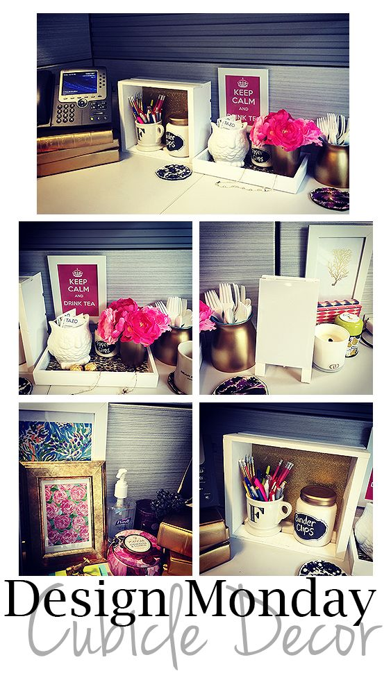 rustic chic design monday cubicle decorating cubicle work desk decor cubicle office decor. Black Bedroom Furniture Sets. Home Design Ideas