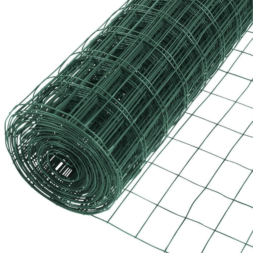 Yardgard 5 Ft X 50 Ft 16 Gauge Vinyl Galvanized Welded Wire 308354b The Home Depot Welded Wire Fence Wire Fence Galvanized