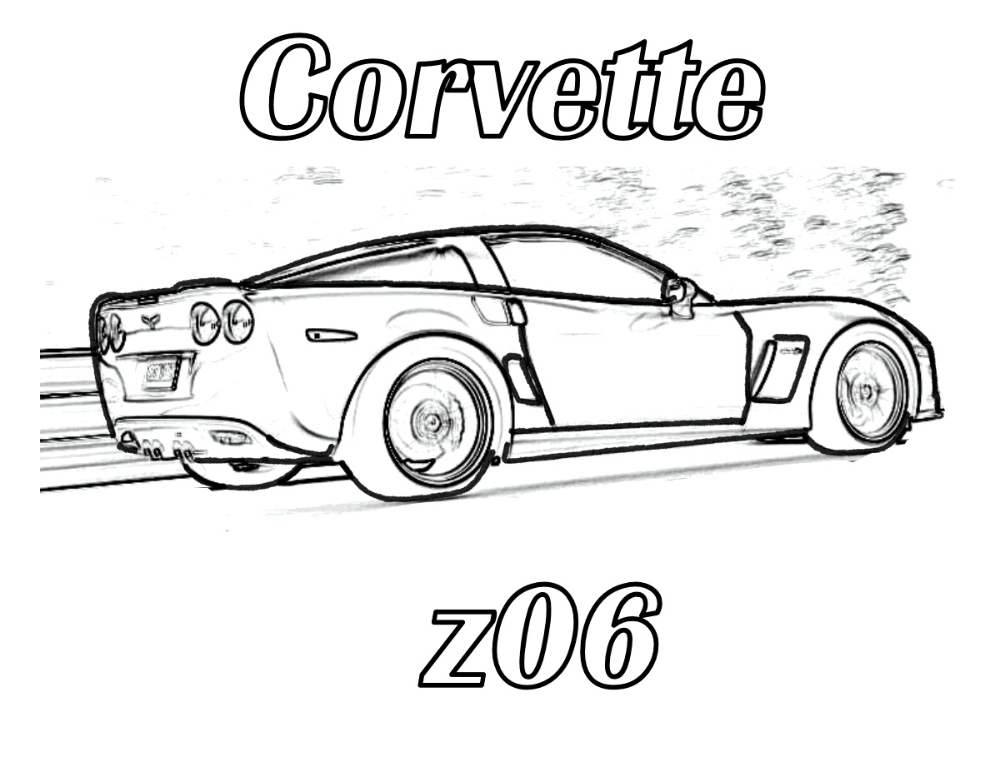 Corvette Coloring Pages K5 Worksheets In 2020 Coloring Pages Superhero Coloring Corvette