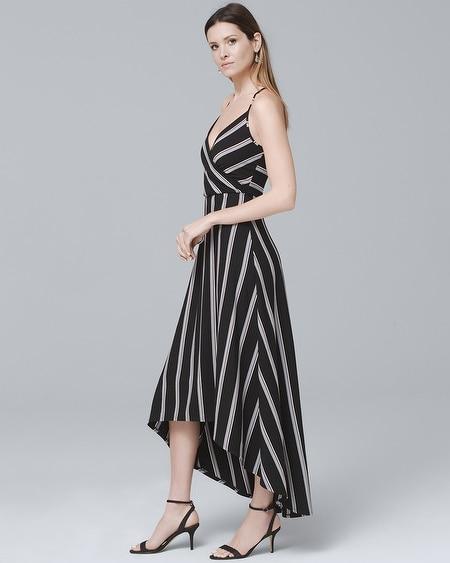 51e3cad0f8 Women s Stripe High-Low Maxi Dress by White House Black Market ...