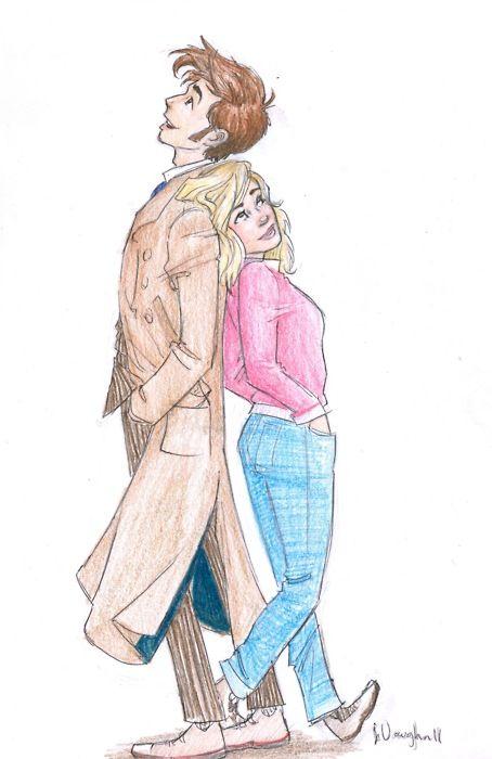 Doctor Who Fan Art Ten And Rose Doctor Who Fan Art Doctor Who Art Doctor Who