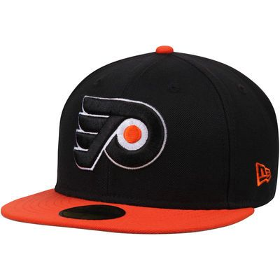 brand new d8c2a 4a8d5 Men s New Era Black Orange Philadelphia Flyers 2-Tone 59FIFTY Fitted Hat