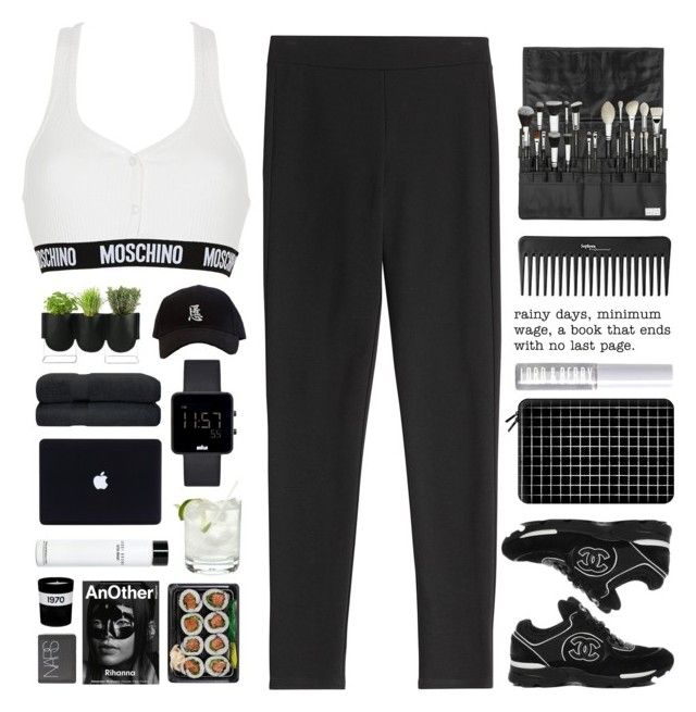 """""""Untitled #2147"""" by tacoxcat ❤ liked on Polyvore featuring Theory, Moschino, Casetify, Lord & Berry, Guide London, Authentics, Braun, Bobbi Brown Cosmetics, Sephora Collection and Alexander McQueen"""