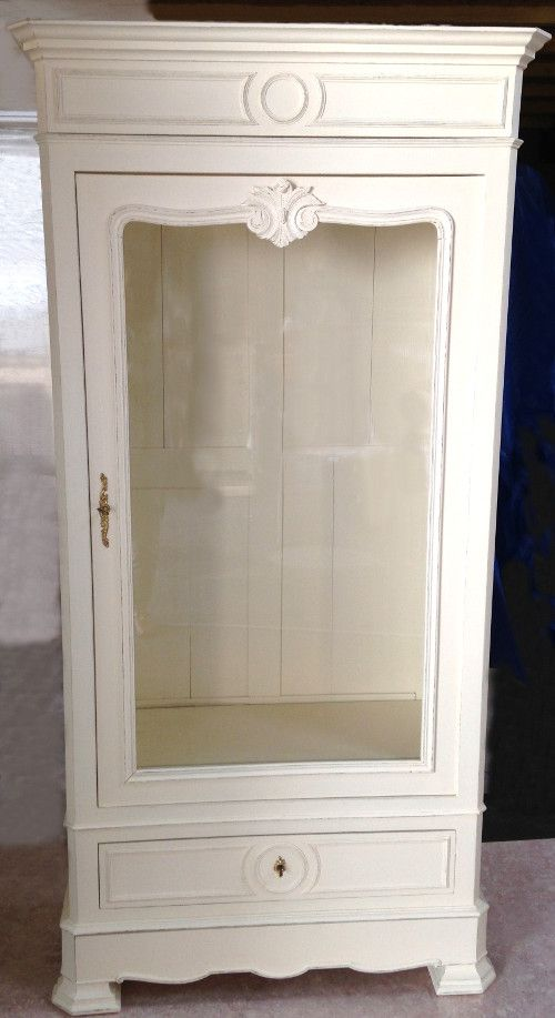 Antique French Armoire / Henri II Style / Glass Front / Frenchfinds.co.uk