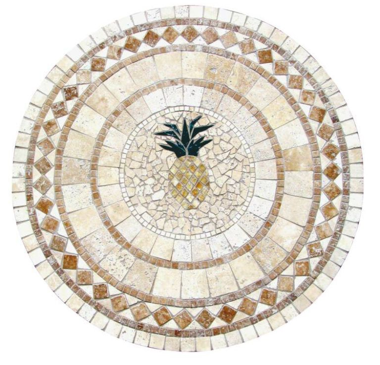 Pineapple Natural Stone Tables 1300 Mosaic Patterns Free Mosaic Patterns Mosaic