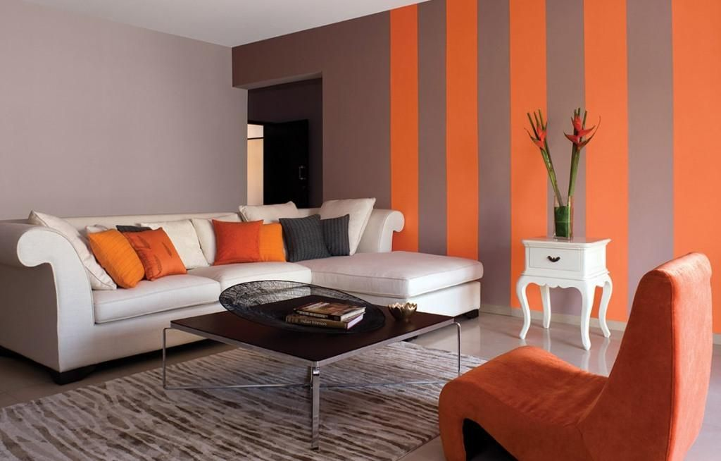 How to choose wall colors for hall? | | Living room orange ...