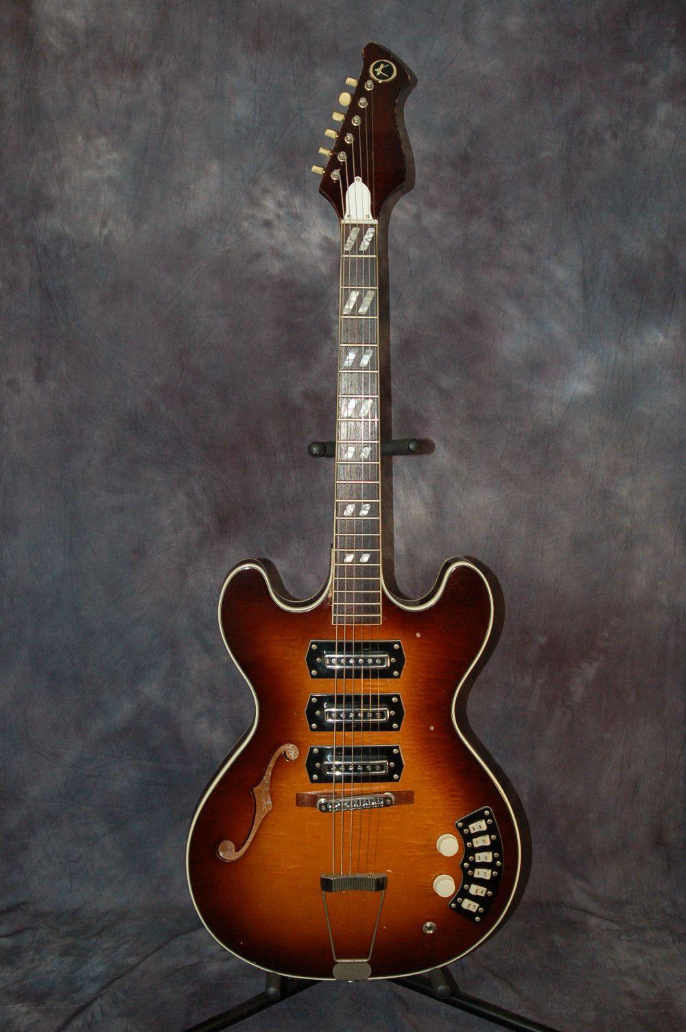 Vintage Rare 1967 Kay Titan Semi Hollow 3 Pickup Thinline Electric Guitar Guitar Electric Guitar Vintage Electric Guitars