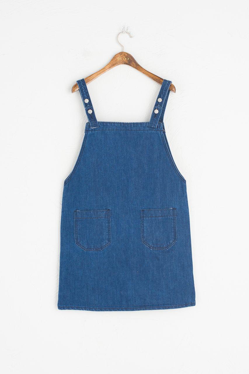 Blue apron dress - Apron Dress Dark Blue