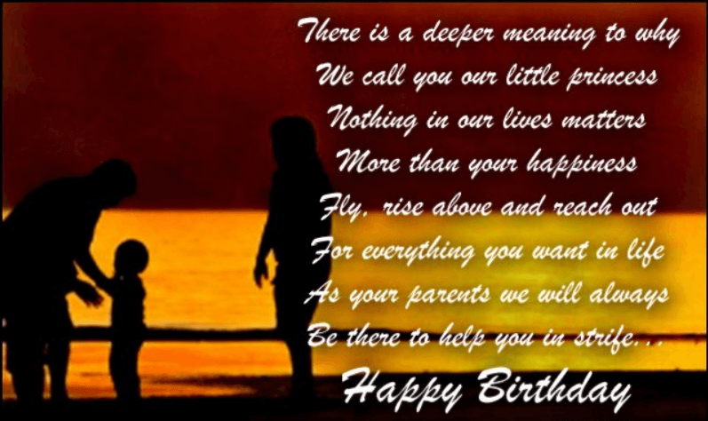 Happy Birthday Quotes For Daughter From Parents