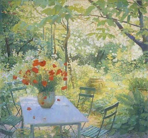 Nicholas Verrall Le Jardin Sauvage Garden Painting Fields In