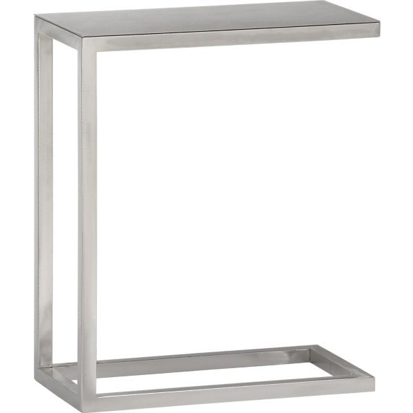 Era Stainless Steel C Table   The guest, Crate and barrel and ...