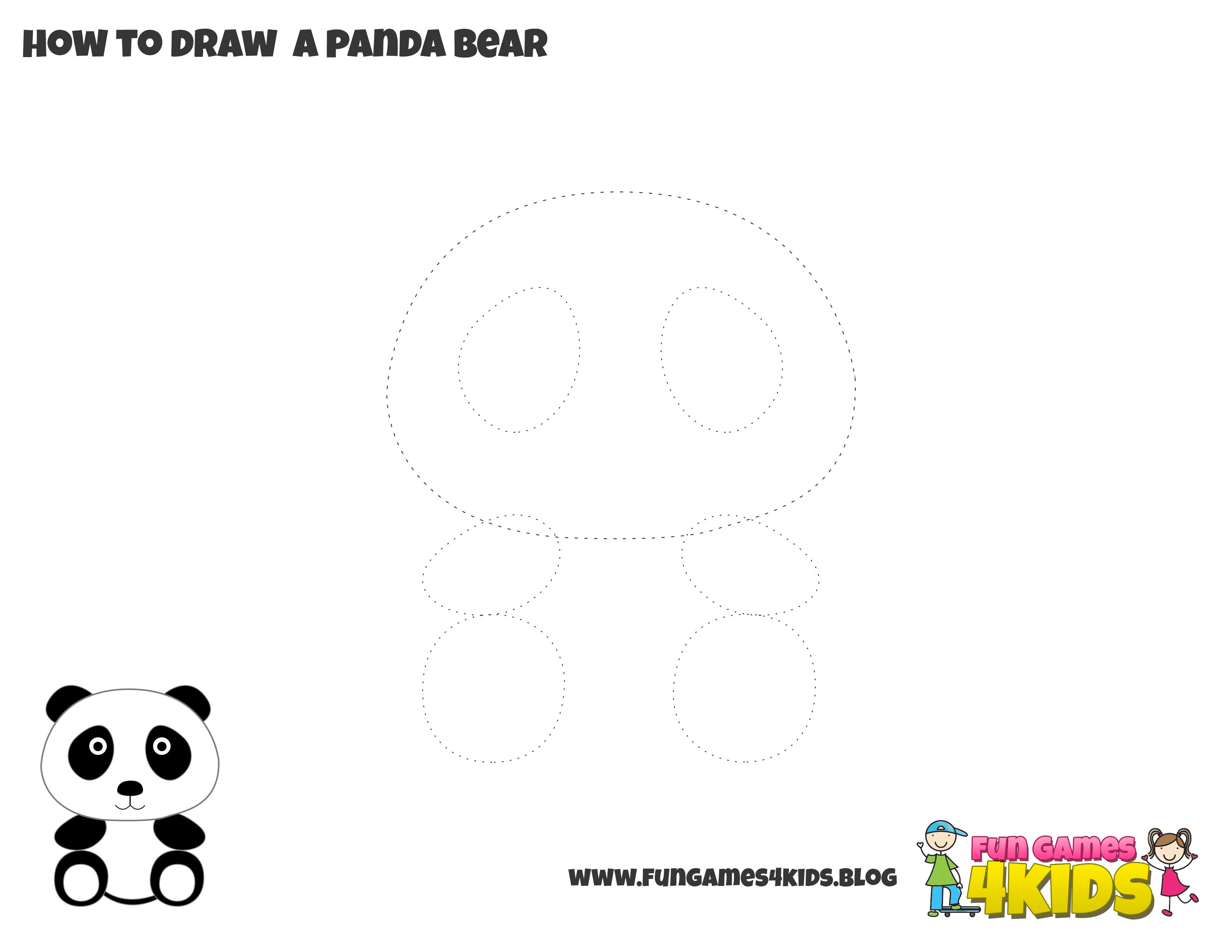 How To Draw Panda From Fungames4kidsub