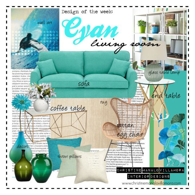 Design Of The Week: Cyan Living Room By Cmvinteriordesigner On Polyvore  Featuring Interior, Interiors