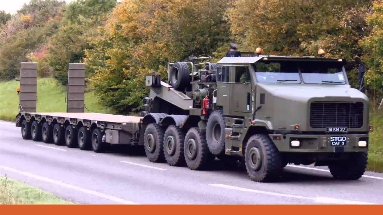 Oshkosh 1070f Uk Heavy Equipment Transporter The Royal Elephant Oshkosh Truck Military Vehicles Trucks