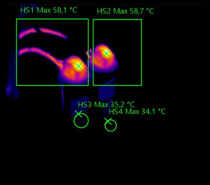 Capacitor de Polipropileno, imagem apresenta o aquecimento do resistor de descarga. (Nov.2016) IPTengenhria.com