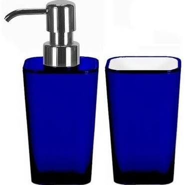 Google Blue Bathroom Bath Accessories Set Blue Bathroom Decor