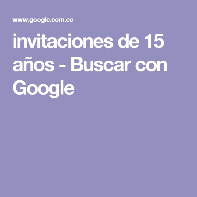 invitaciones de 15 años - Buscar con Google