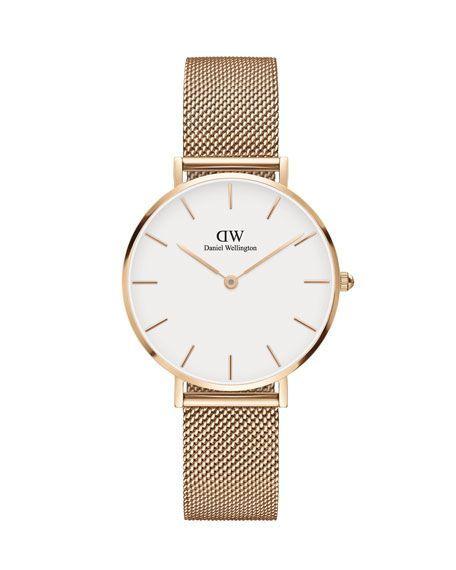 Daniel Wellington 32mm Classic Petite Melrose Bracelet Watch wWhite Dial