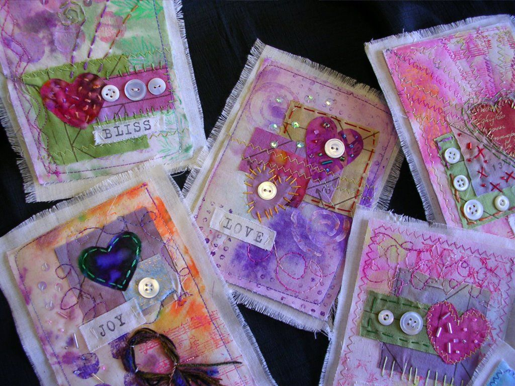 Embellished Circus: Valentines Mini Art Quilts