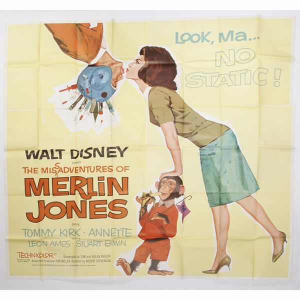 Walt Disney's 'Merlin Jones' six sheet movie poste...