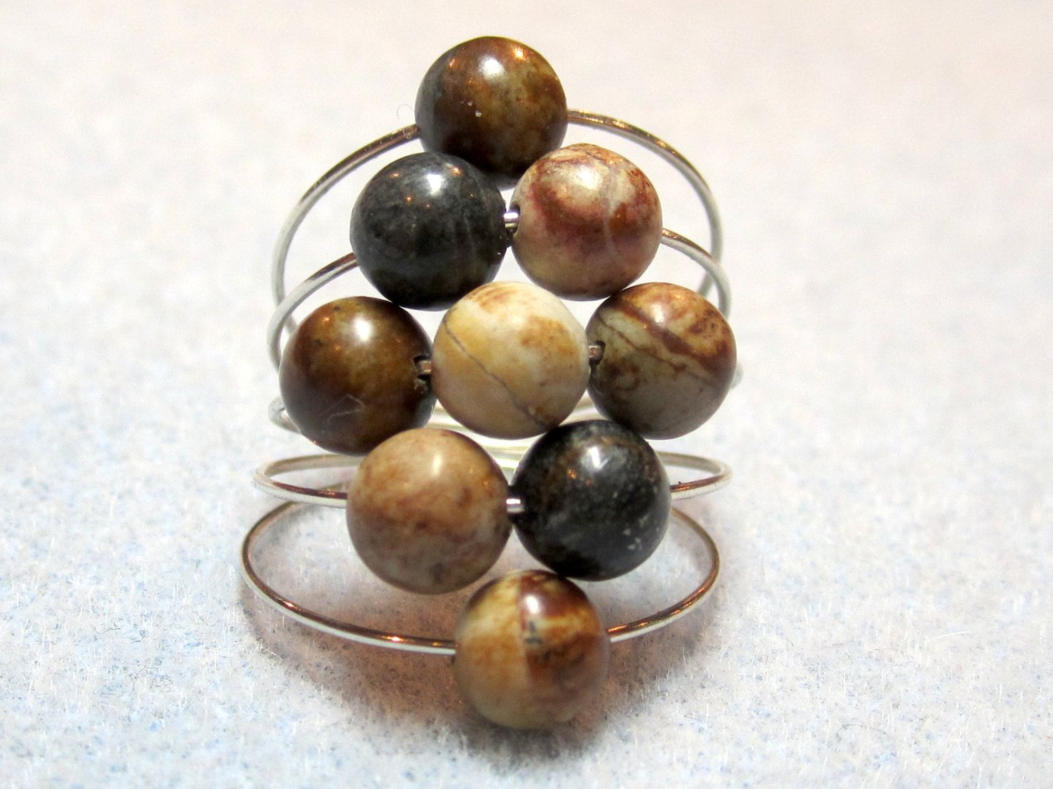 Gemstone memory wire ring | Jewelry | Pinterest | Memory wire rings ...