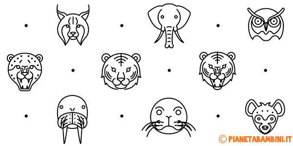 Facce Di 81 Animali Da Stampare Colorare E Ritagliare Idee Bimbi
