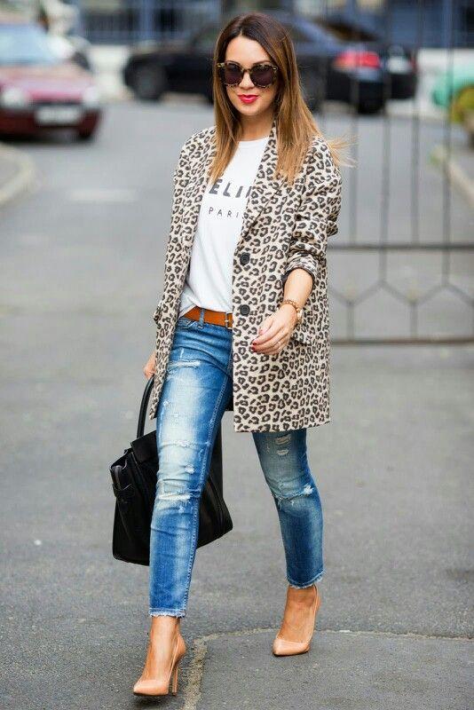Résultats de recherche d'images pour «leopard blazer street style»