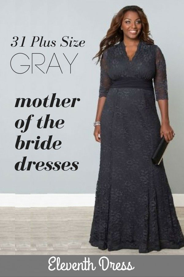 4b148335be Plus Sized Gray Mother of the Bride Gowns | Gray Mother of the Bride ...