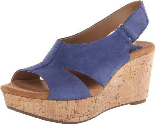e2a91de7039 Clarks Women s Caslynn Lizzie Wedge Sandal. So comfortable!