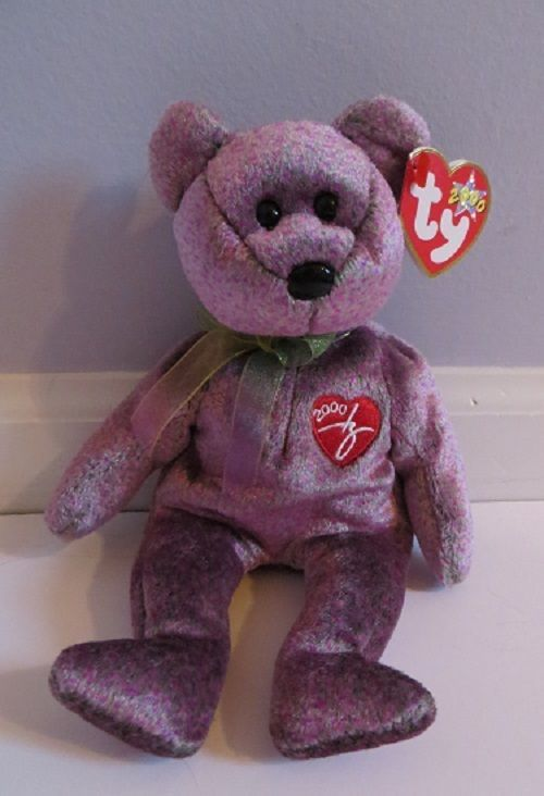 TY Beanie Baby 2000 SIGNATURE BEAR with Tag RETIRED  TYBeanieBaby ... df25a9eb256