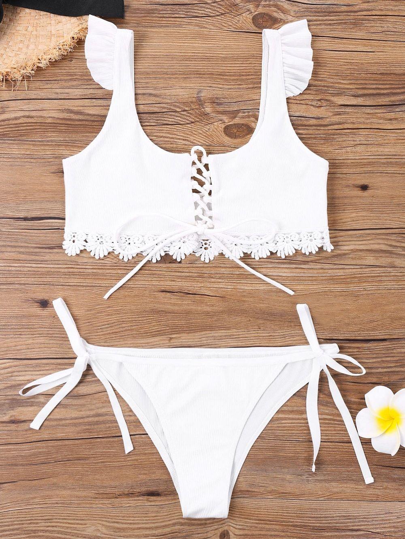 e97d988198b Criss Cross Tie Side Bikini with Lace #Gamiss #bikini #cute | pretty ...