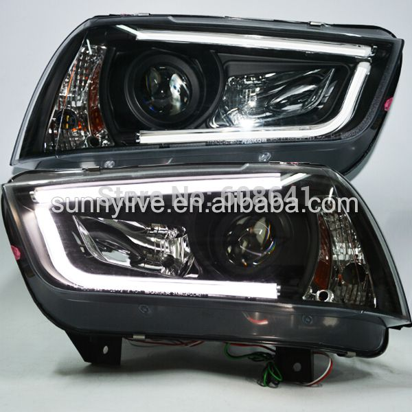 2011 2014 Year For Dodge Charger Led Headlights Led Strip Head Lamps Black Housing Sn Car