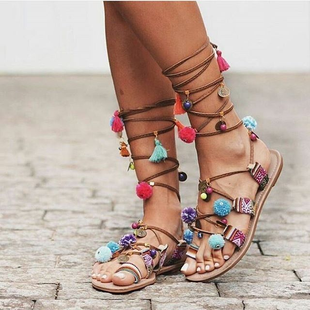 Chaussures43 Belles Tendance Sandales Des L'été Plus Plates Pour f6Ygvb7yIm