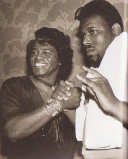 James Brown and Afrika Bambaataa