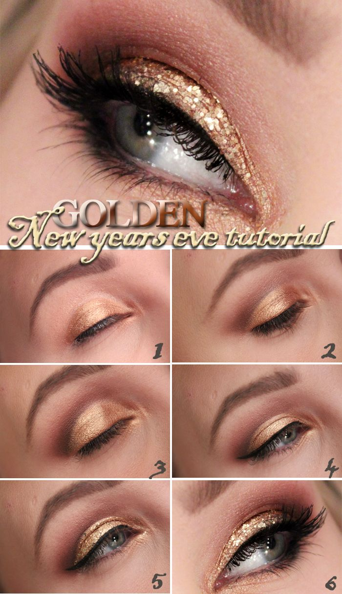 Helen torsgrden hiilens sminkblogg golden new years eye glitter eye makeup baditri Image collections