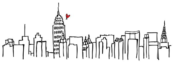 Pin By Joy Childress On Cookies Nyc Tattoo Skyline Drawing City Outline