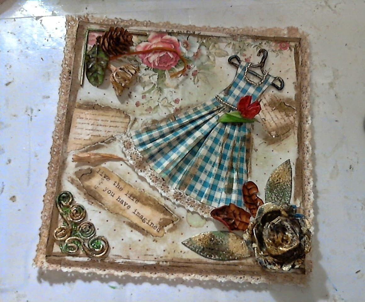 Diy cuadrito estilo vintage con material reciclado - Estilo vintage decoracion ...