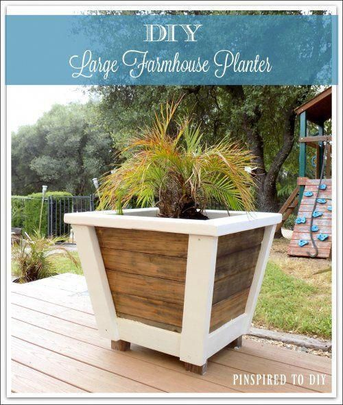 diy large farmhouse planter free woodworking plans for on easy diy woodworking projects to decor your home kinds of wooden planters id=39174