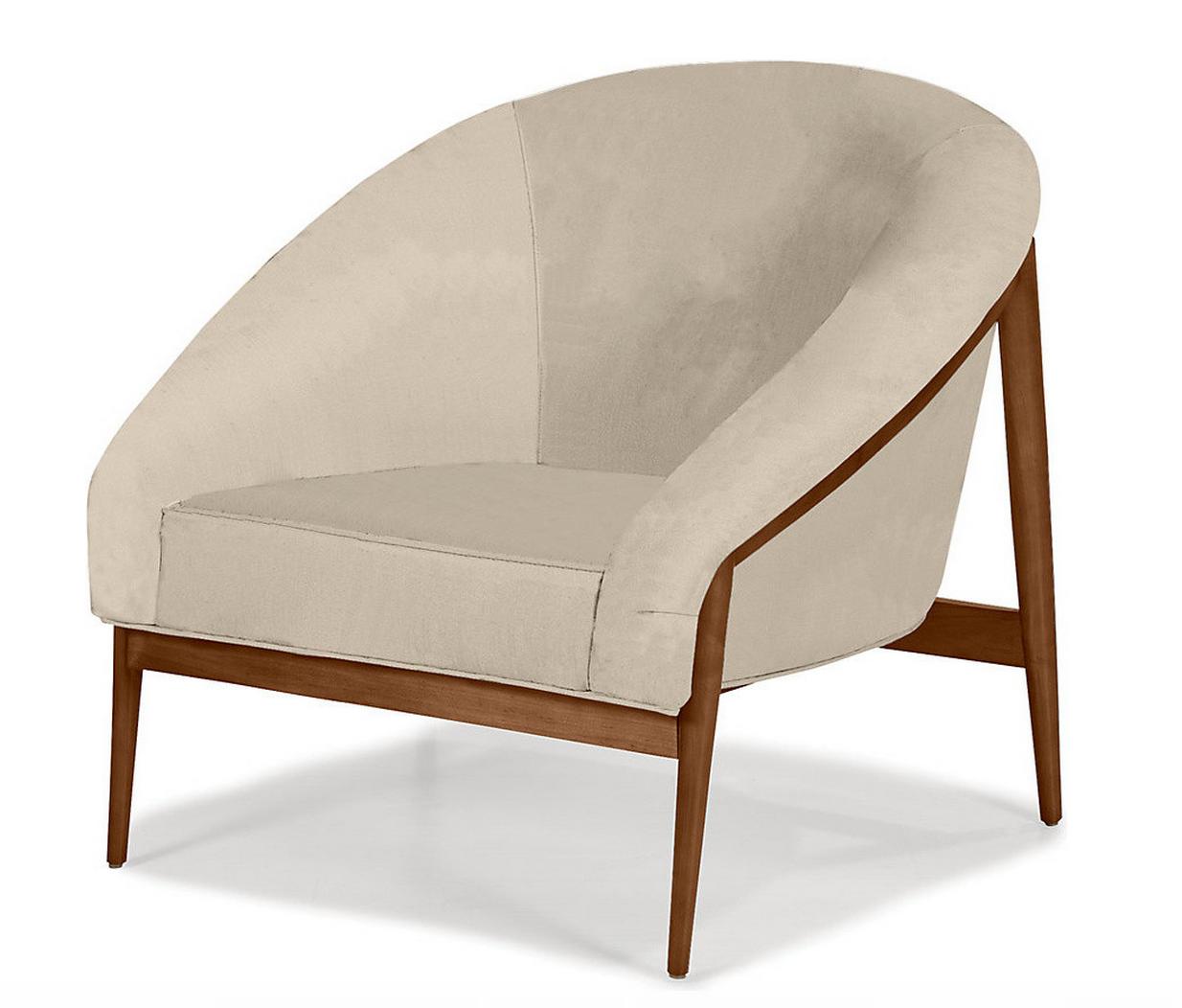 sillon, respaldo redondo, base de madera | OTOMANES, PUFF ...