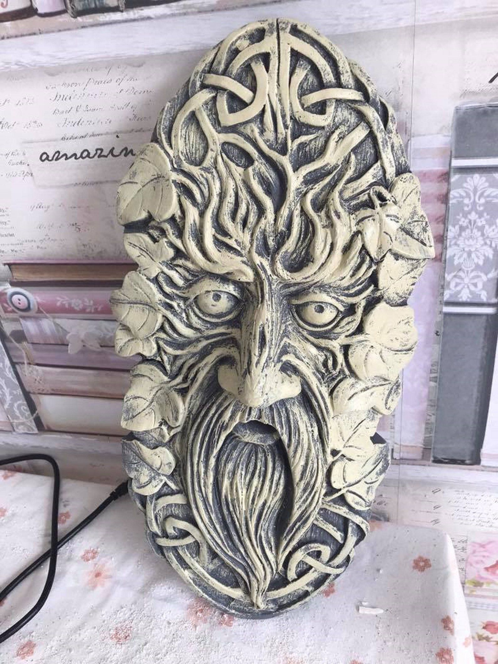 Latex Craft Mould Mold Tree Man Wall Plaque Reusable Art